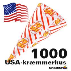 Kræmmerhus til popcorn, 100 stk.