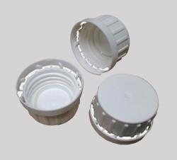 Kapsel, hvid, 32 mm. m/ låsering